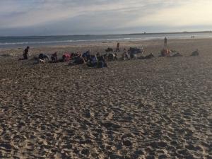 Ochtendtraining op het strand
